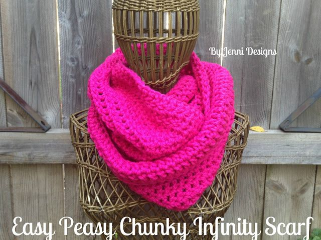 By Jenni Designs: Free Crochet Pattern: Easy Peasy Chunky Infinity ...