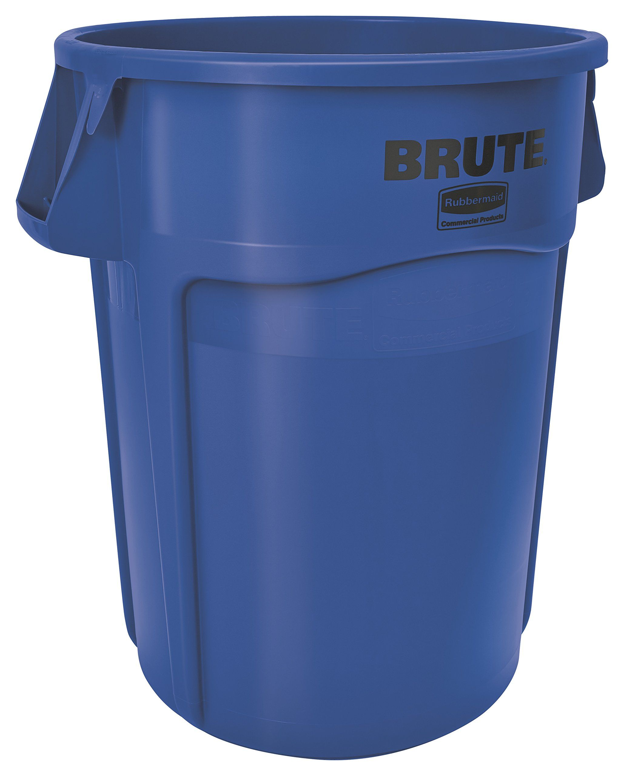 rubbermaid commercial brute plastic 55gallon trash can without lid round 33inch height blue biss basic pinterest 55 gallon - Brute Trash Can