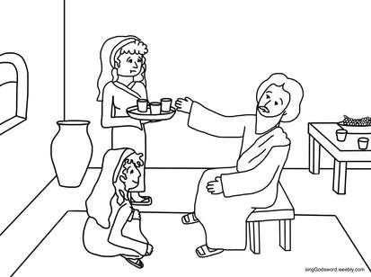 Martha and Mary - Coloring Page - SundaySchoolist