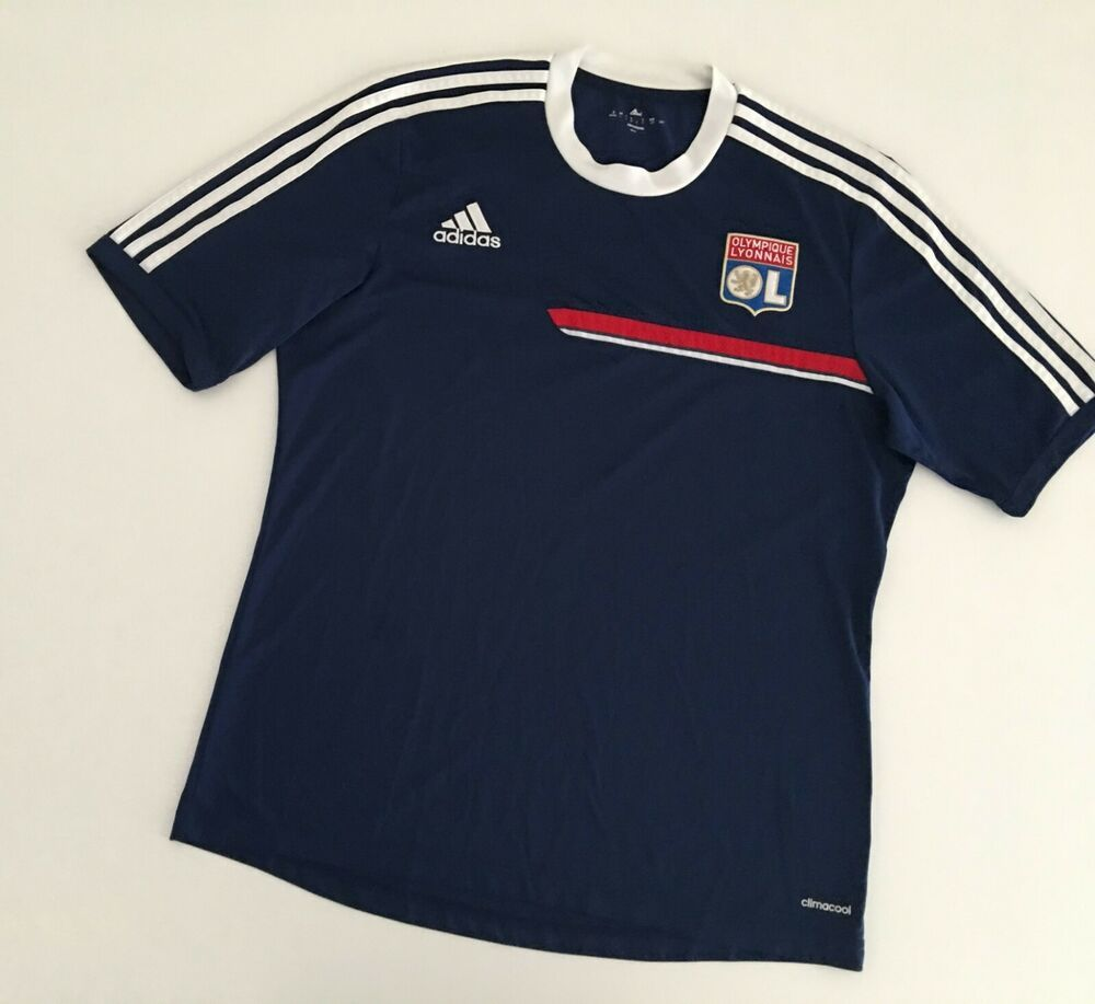 Olympique Lyon 2013 14 Training Football Shirt L Adidas Vintage Soccer Jersey Ebay In 2020 Vintage Adidas Football Shirts Soccer Shirts