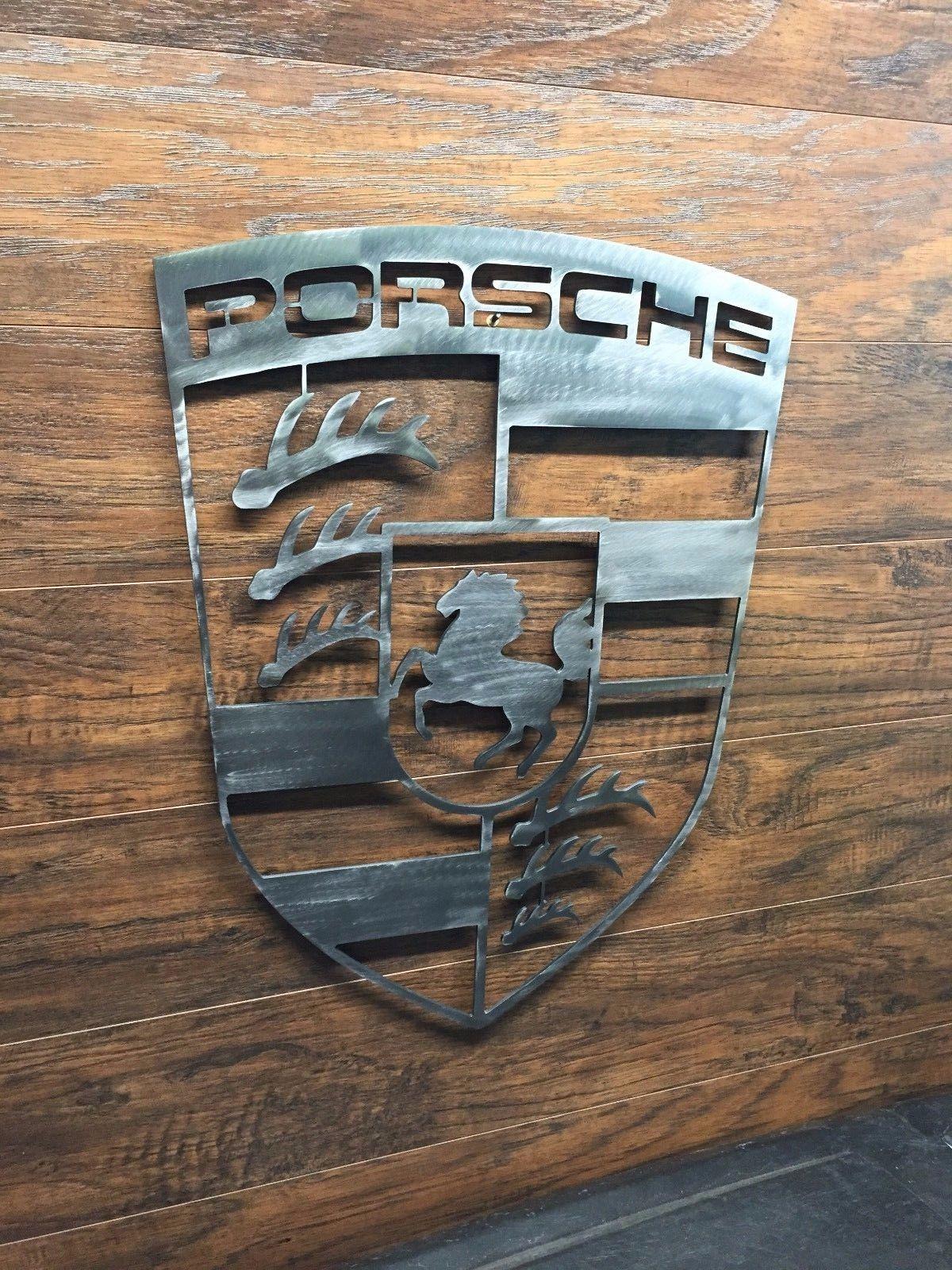 US $40.00 New other (see details) in Home u0026 Garden Home Décor Wall Sculptures & Porsche Logo Sign Metal Wall Art Decor Man Cave Performance Car ...