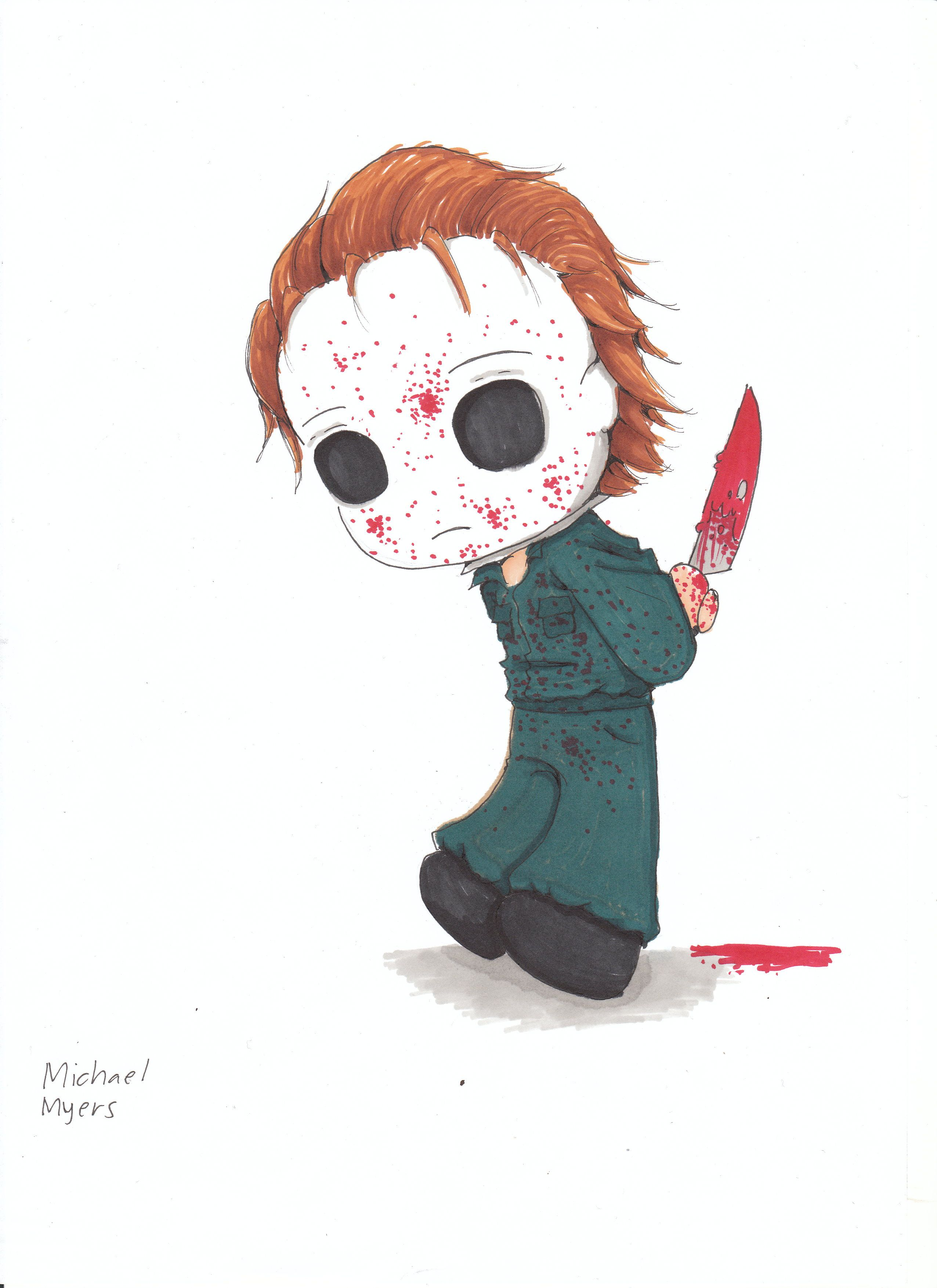 Cute Michael Myers With Images Horror Art Creepiest Horror