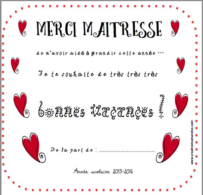 Une jolie carte merci ma tresse t l charger gratuitement citations pinterest jolie - Remerciement maitresse d ecole cp ...