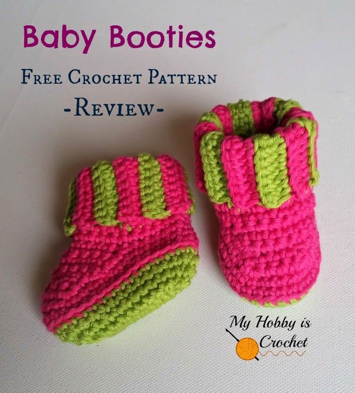 Baby Booties with Ribbed Cuff - a Free Crochet Pattern Review  My ...