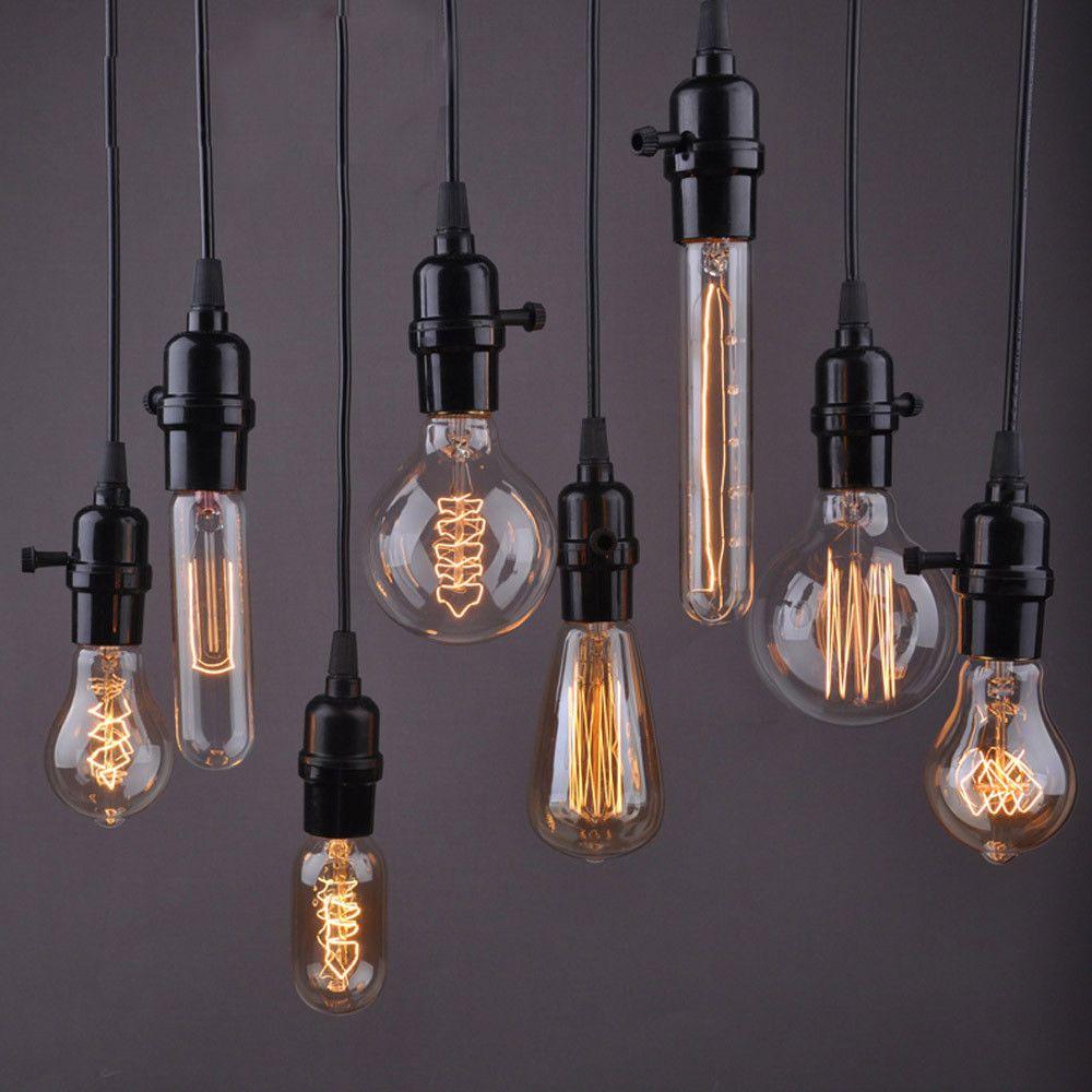 0 99 E27 E14 E26 B22 Vintage Edison Dimmable Light Bulbs Home Lamp Decor 110 220v Ebay Home Garden Vintage Bulb Edison Lamp Filament Lighting