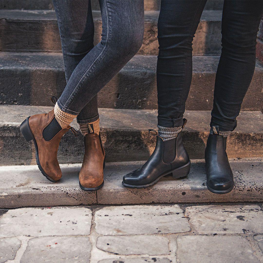 e25c418092ec Shop Women s BLUNDSTONE 1673 Heel Ankle Boot in Antique Brown