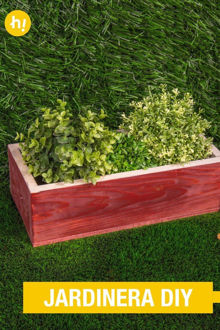 Cómo Hacer Una Jardinera De Madera | Pinterest | Jardinera De Madera,  Exteriores De Casa Y Plantar Flores