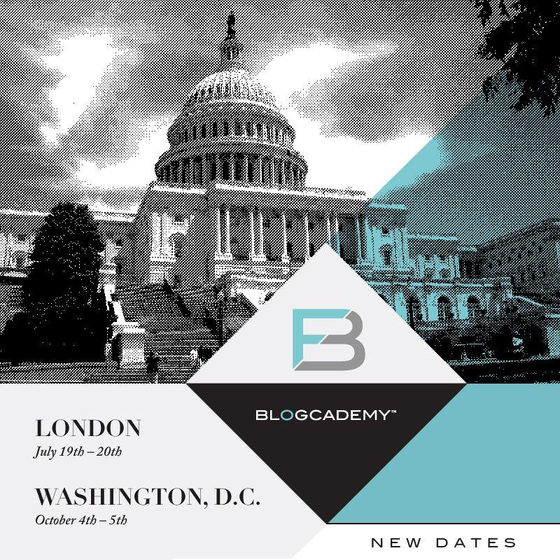 Blogcademy New Dates