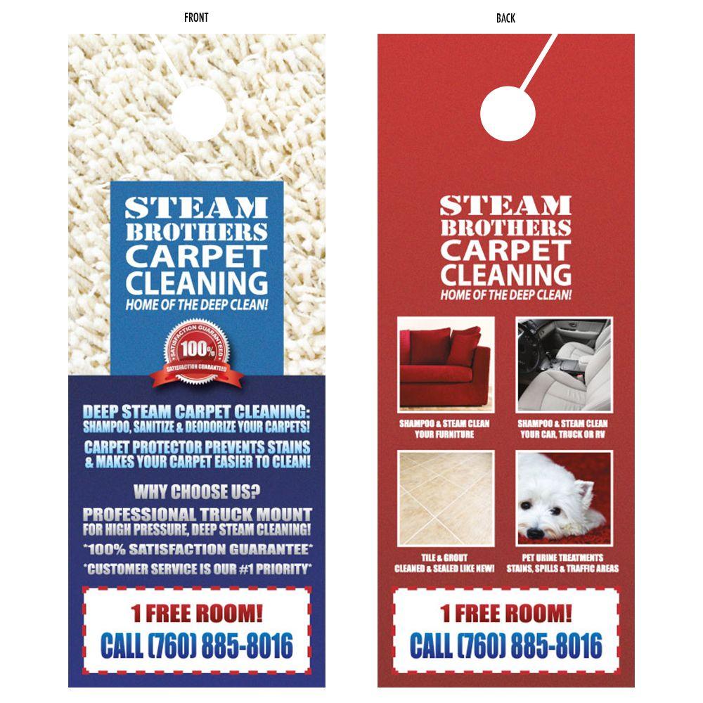 Carpet Cleaning Door Hanger Flyer Design Graphicdesign