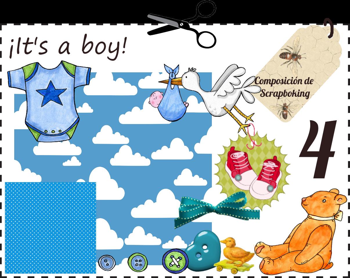 ¡Si es un niño también! Visita nuestra sección de de Scrapbook en la web y verás que contamos con una sección enterita de Baby Shower. Compleméntala con decenas de fotos que también verás en la sección Découpage.
