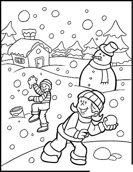 Holiday Coloring Pages Kids