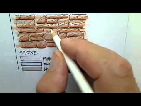Ilustracion De Ladrillo Loza O Azulejos Usando Una Tecnica Basica Y Rapida Para Crear Pro Drawing Interior Interior Design Sketches Interior Design Renderings