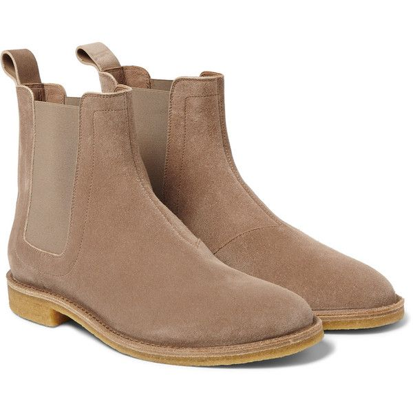 Bottega Veneta Suede Chelsea Boots ($820) ❤ liked on Polyvore featuring mens,  men's