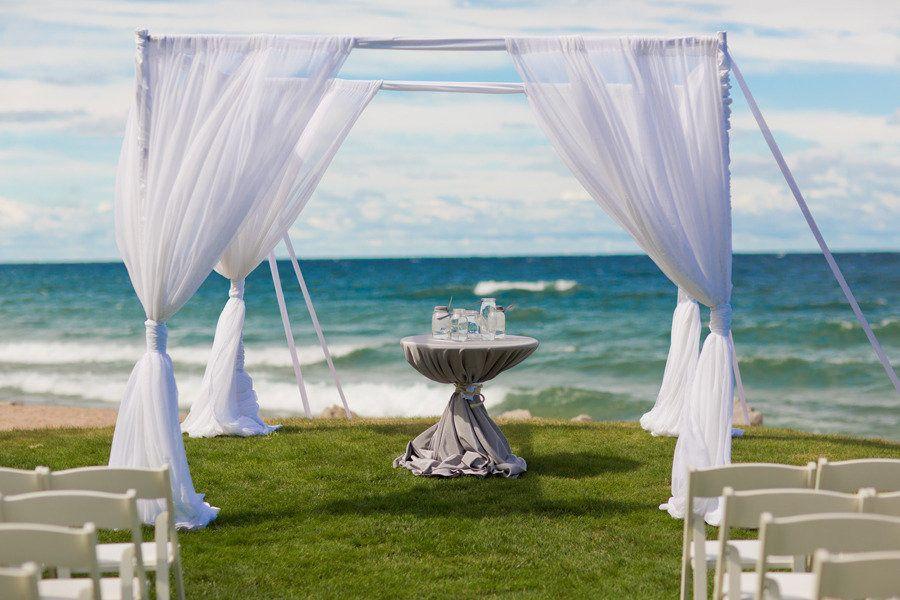 Lake Michigan Wedding From Stephanie N. Baker + Larisa