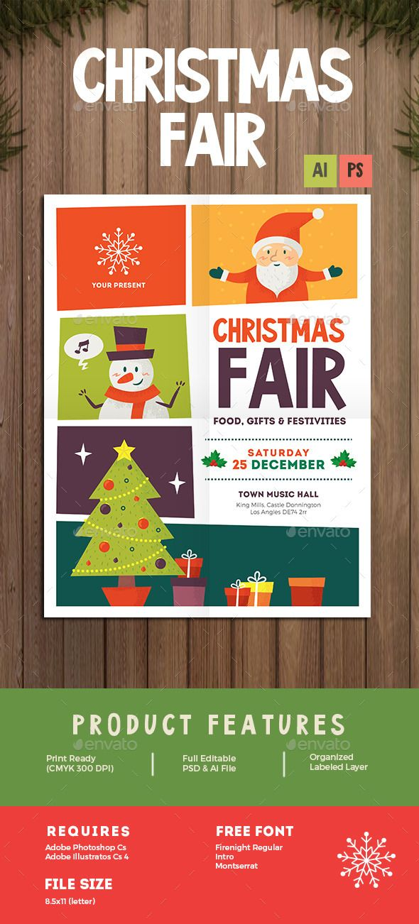 Christmas Fair Flyer - Events Flyers #Flyer #Template #businessflyer ...