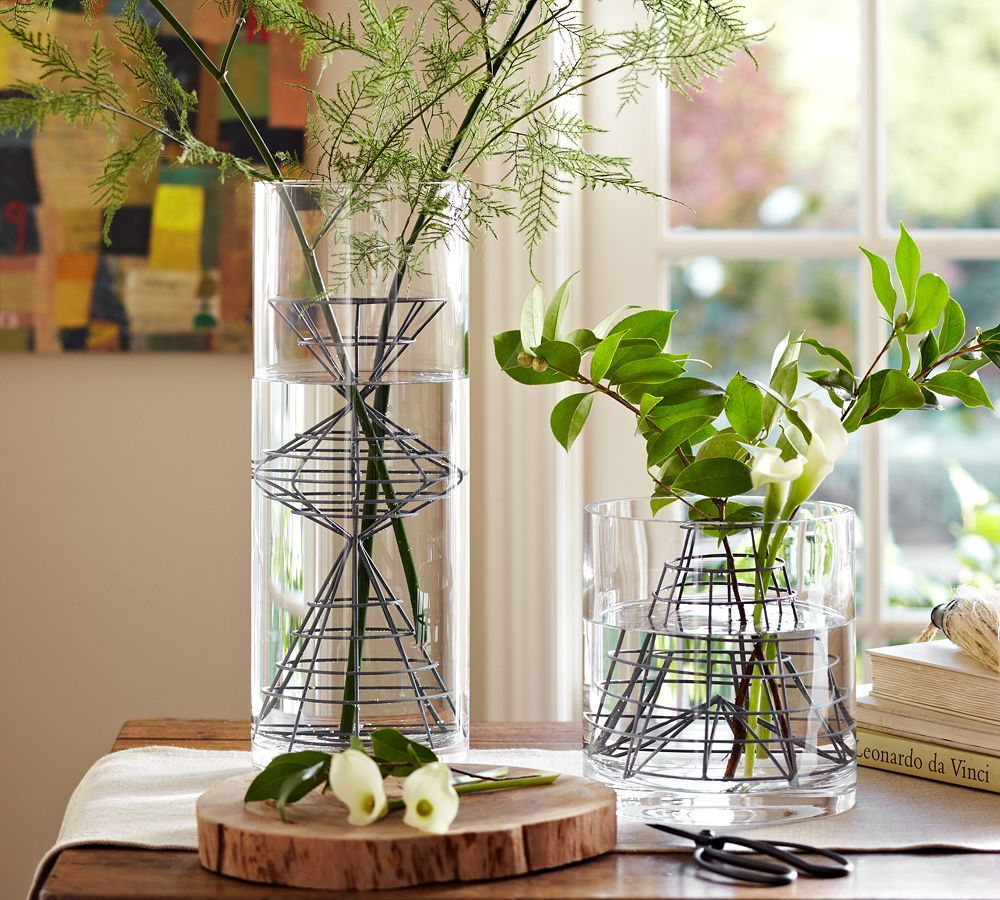 Pottery Barn. Never Seen These Before But A Great Idea As You Donu0027t Need As  Much Foliage/flowers As Usual As The Individual Stems Are Kept Steady