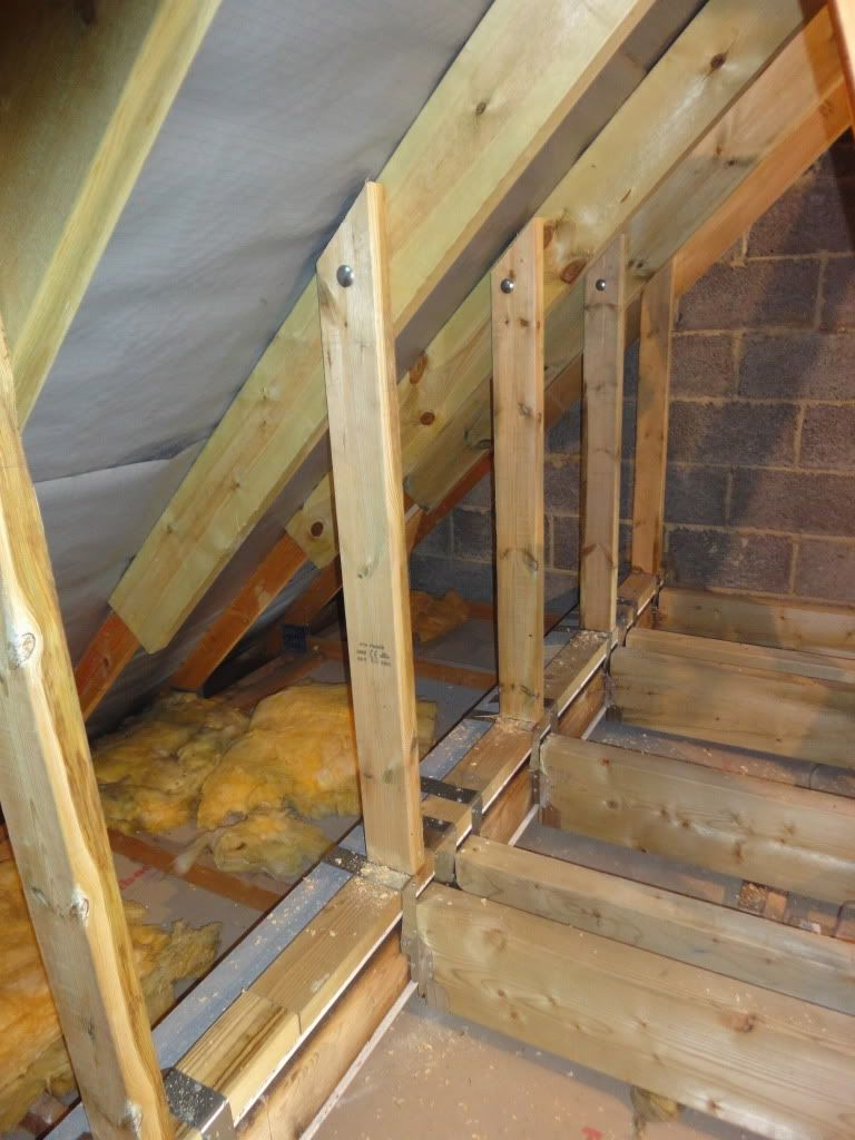 Changed Support For Top Beams Attic Rooms Attic Remodel Attic Renovation