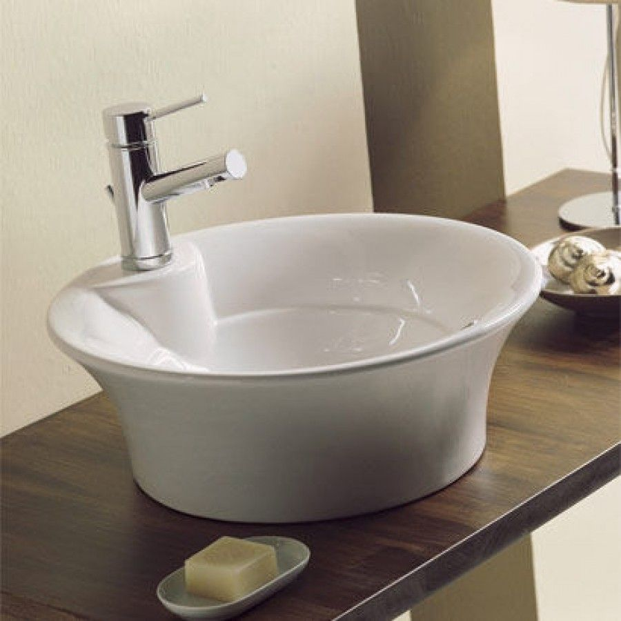 Scarabeo By Nameeks Twist Above Counter Single Hole Bathroom Sink In White Art 8004 Sink Porcelain Bathroom Sink Above Counter Bathroom Sink