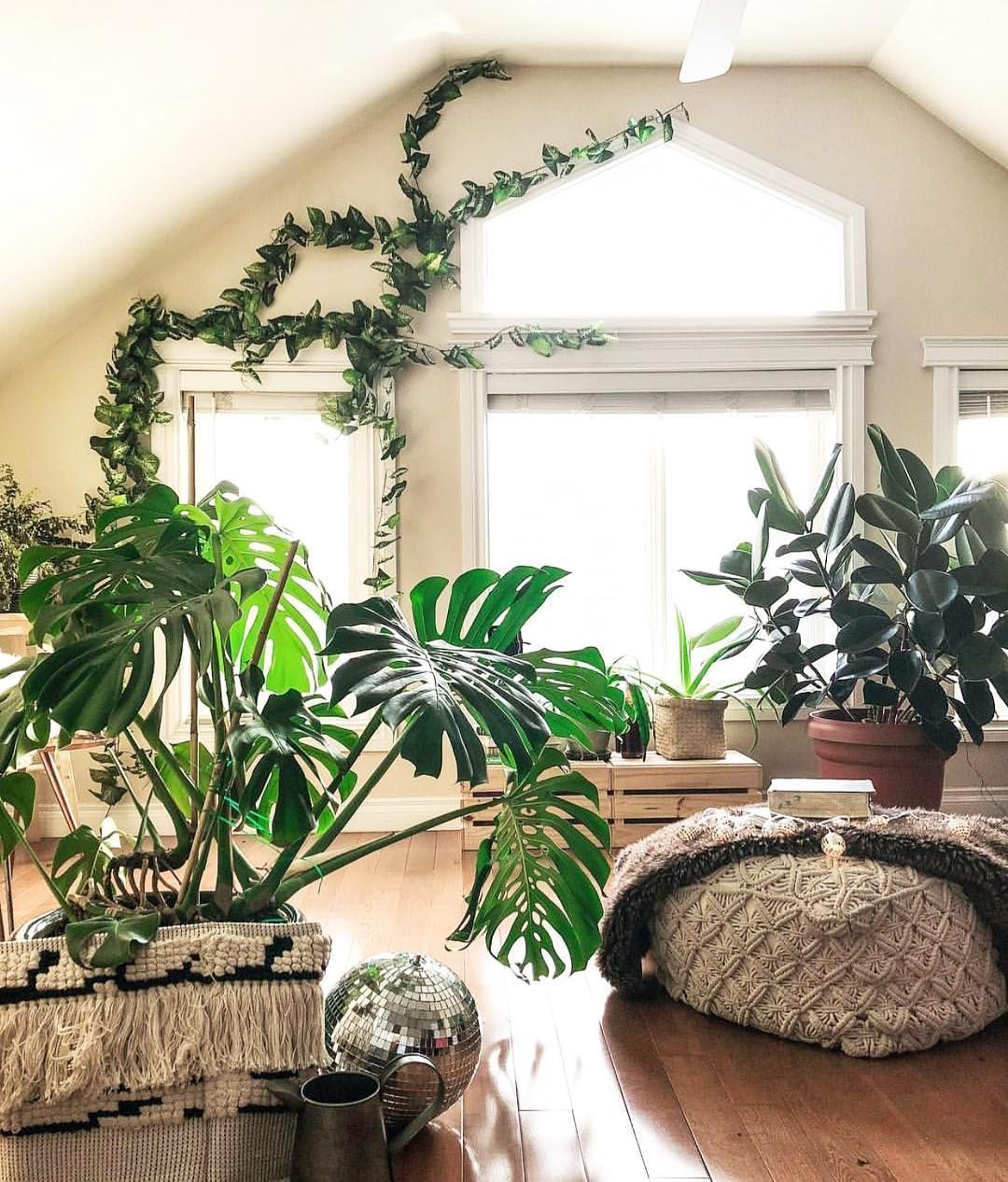 115 Simple Foliage Living Room Ideas For Summer That Make Coolest House Javgohome Home Inspiration Room With Plants Indoor Garden Indoor Plants