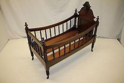 Antique Victorian Walnut Childs Bed Cradle or Crib Circa 1880s'