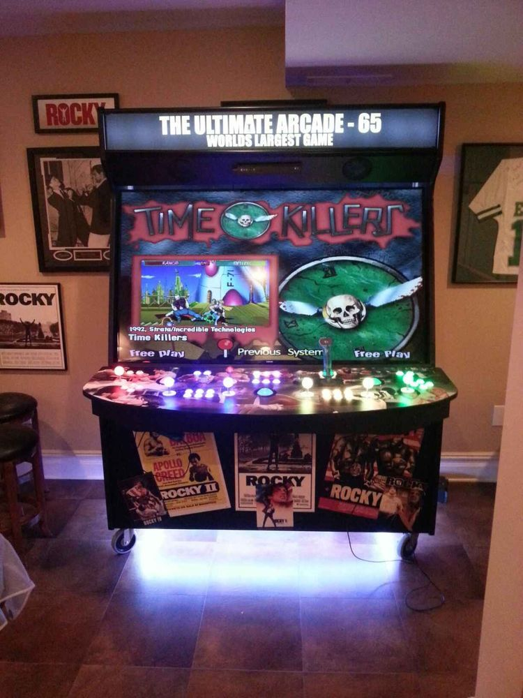 "65"" samsung led 4 player ultimate arcade machine! another world"