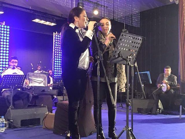 مجلة حلوة المشاهير أصالة وأنغام في البروفة النهائية لحفل زيزينيا صور Concert