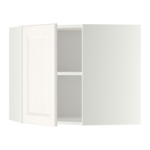 METOD Pensile angolare con ripiani - bianco, Laxarby bianco, 68x60 ...