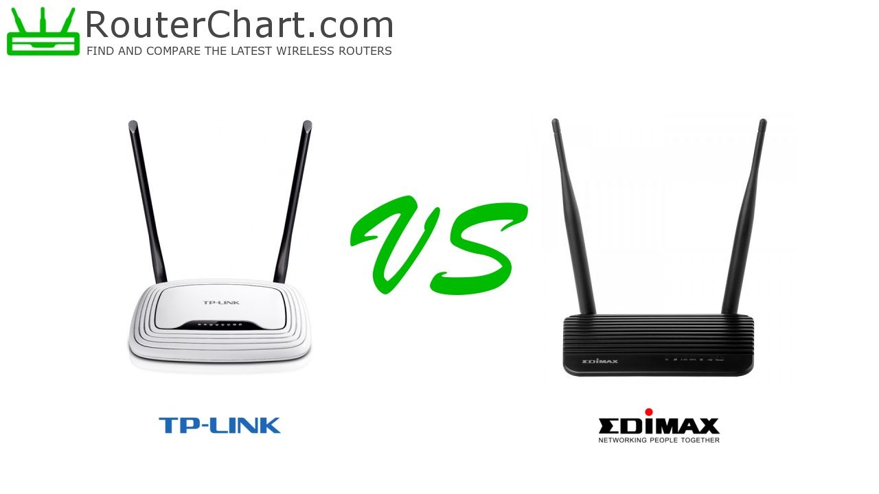 The side-by-side comparison of the TP-Link TL-WR841N v12 and Edimax