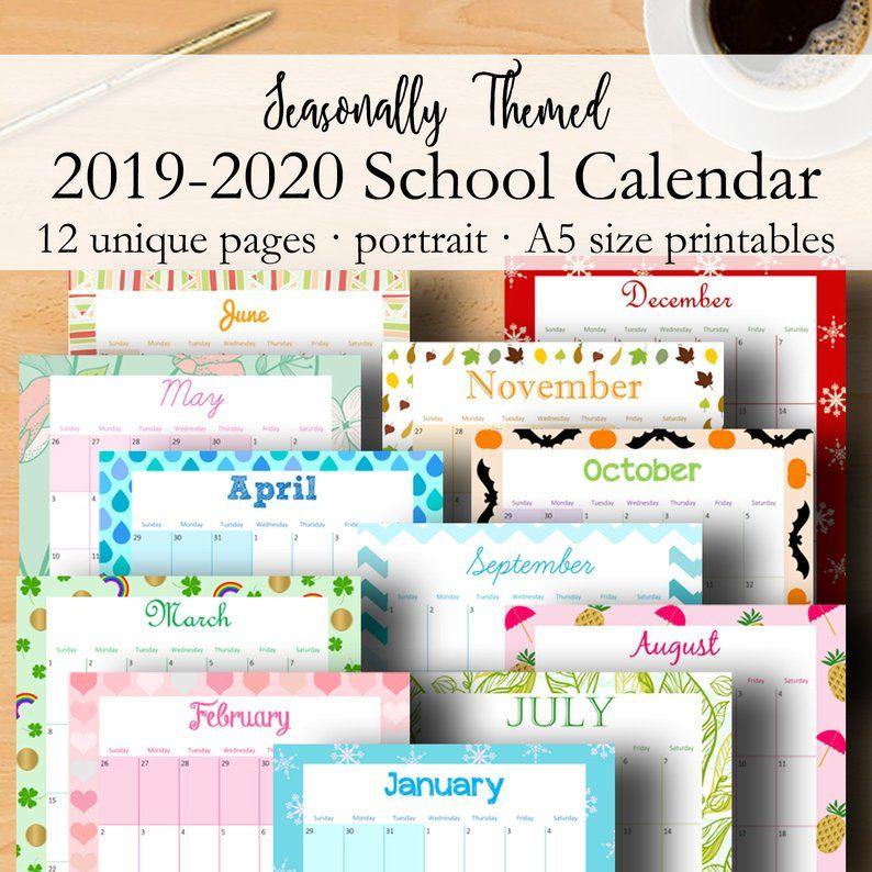 Printable Monthly Calendar 2020 2021, School Calendar ...