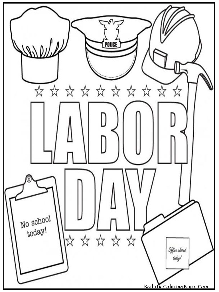 Labor Day Coloring Pages 3 Labor day crafts, Coloring