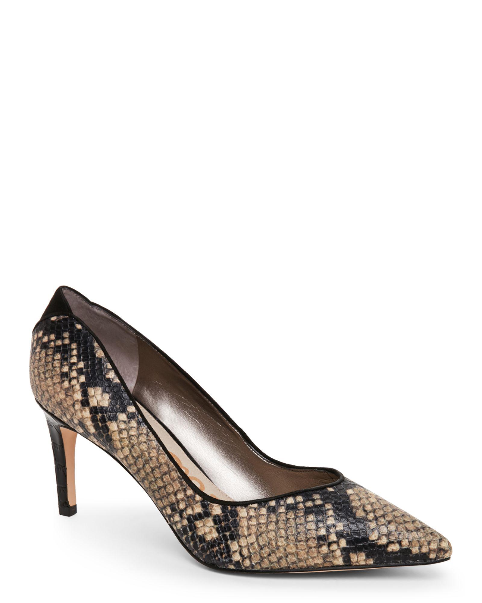 562d7e17d6864 Sam Edelman Natural Snake Orella Pointed Toe High Heel Pumps ...