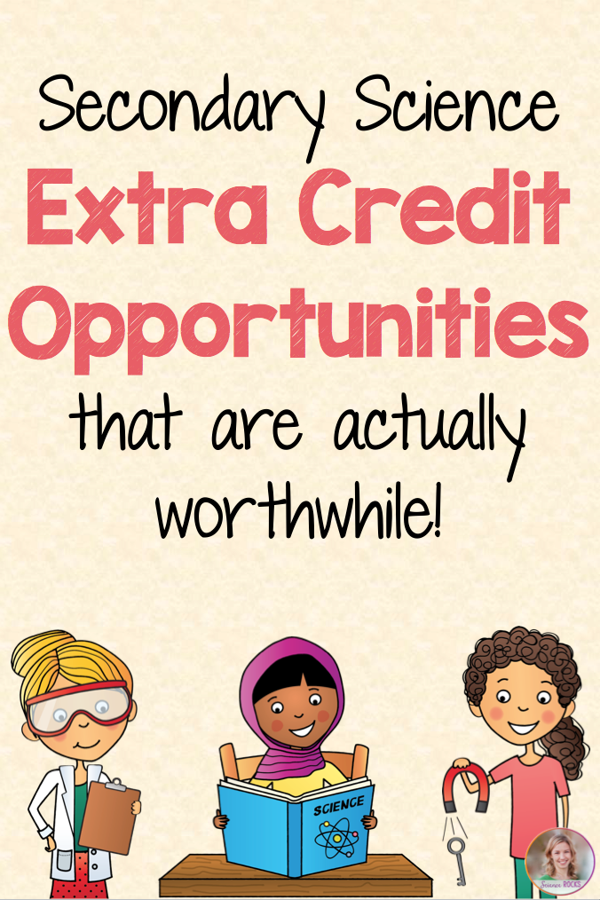 BLOG POST: Secondary science extra credit opportunities that
