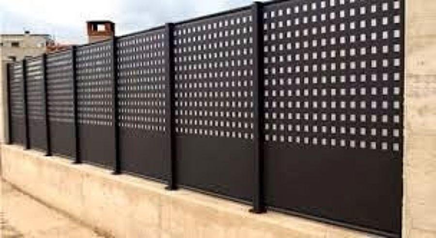 Valla metalica jardin buscar con google cerramiento - Vallas para parcelas ...