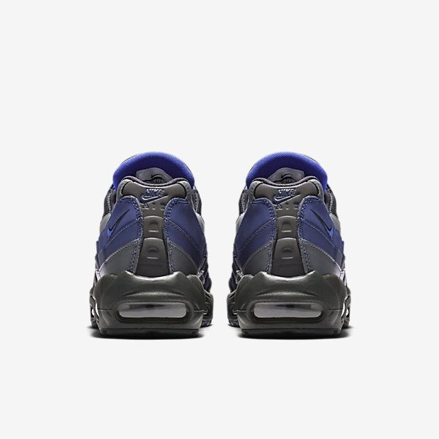 brand new 4d2cf 87c2f Chaussure Nike Air Max 95 Pas Cher Homme Essential Anthracite Bleu Binaire  Gris Froid Bleu Souverain
