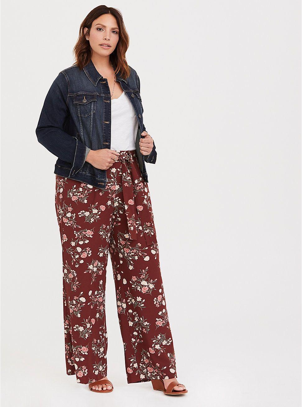 1f04d25c146 Wide Leg Pant - Crepe Floral in 2019