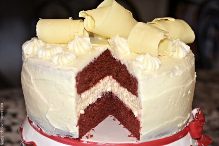 Red Velvet Cake and Cheesecake with Cream Cheese Frosting