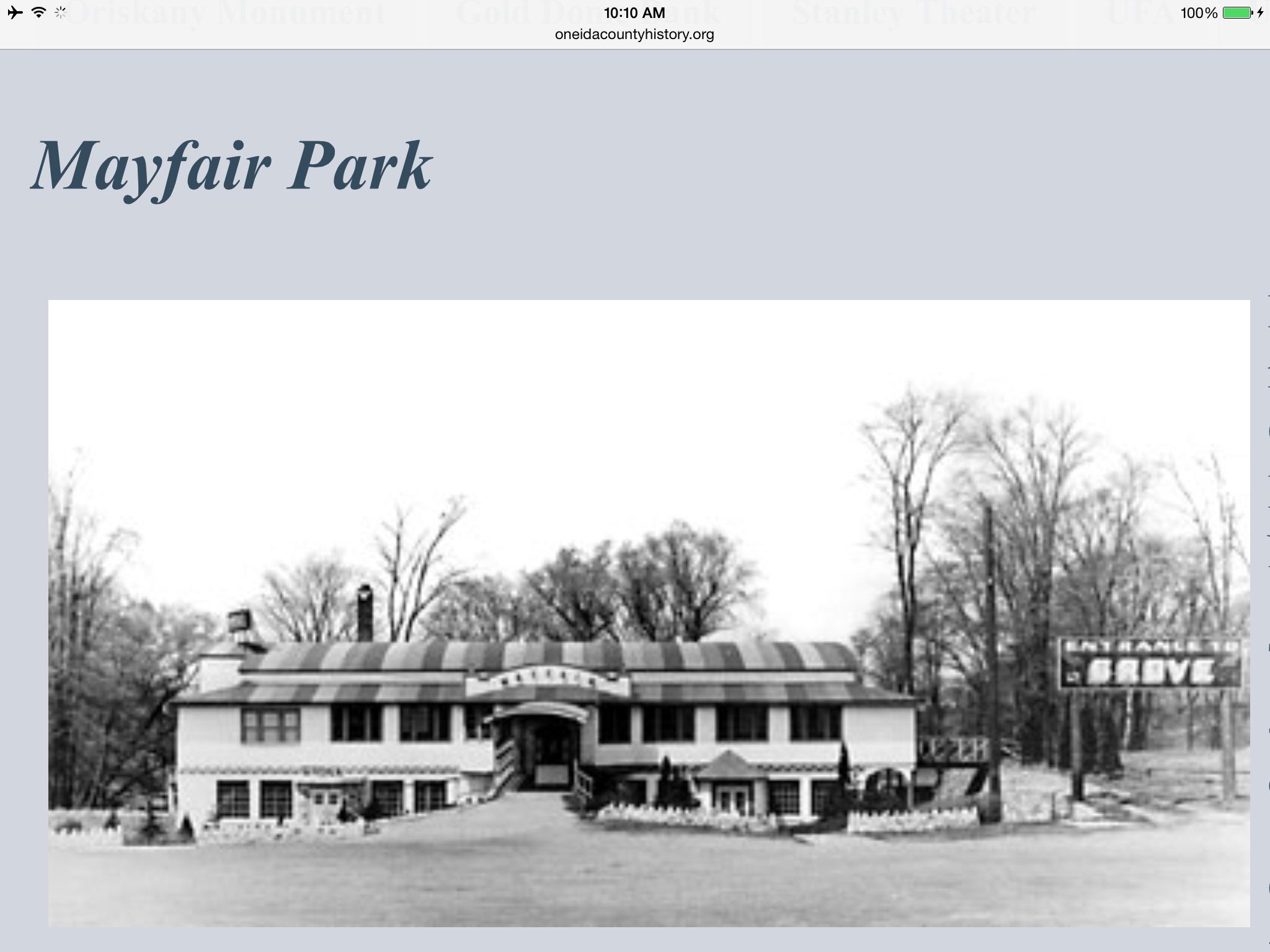 Mayfair Park Marcy Ny Utica Park Mayfair