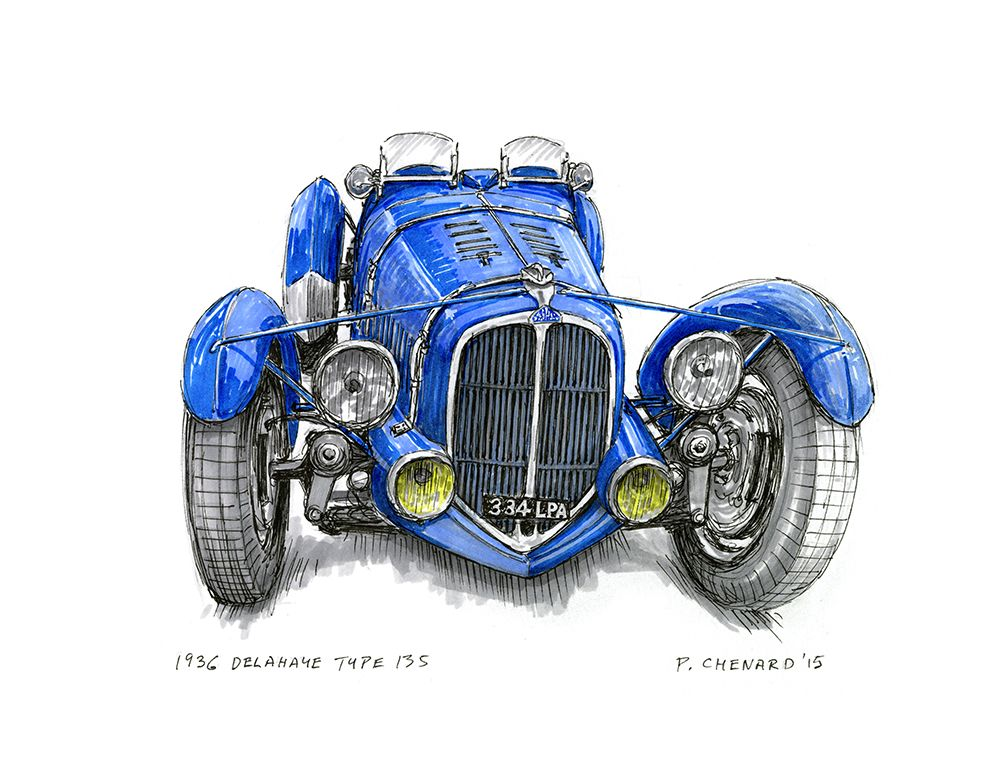 Delahaye Tipo 135 - 1936