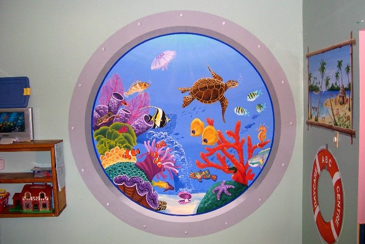 Classroom Mural Ideas ~ Daycare decor a beautiful mural great home