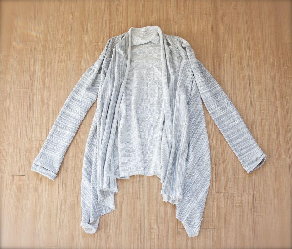 easy-diy-asymmetrical-draped-cardigan | Sewing | Pinterest | Sewing ...