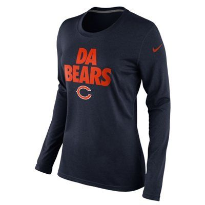 Nike Chicago Bears Ladies Da Bears Local Long Sleeve T-Shirt - Navy Blue 912b3957e