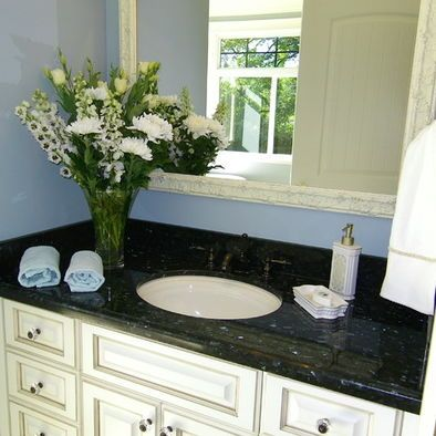 Black Pearl Granite And Bronze Oil Rubbed Faucet