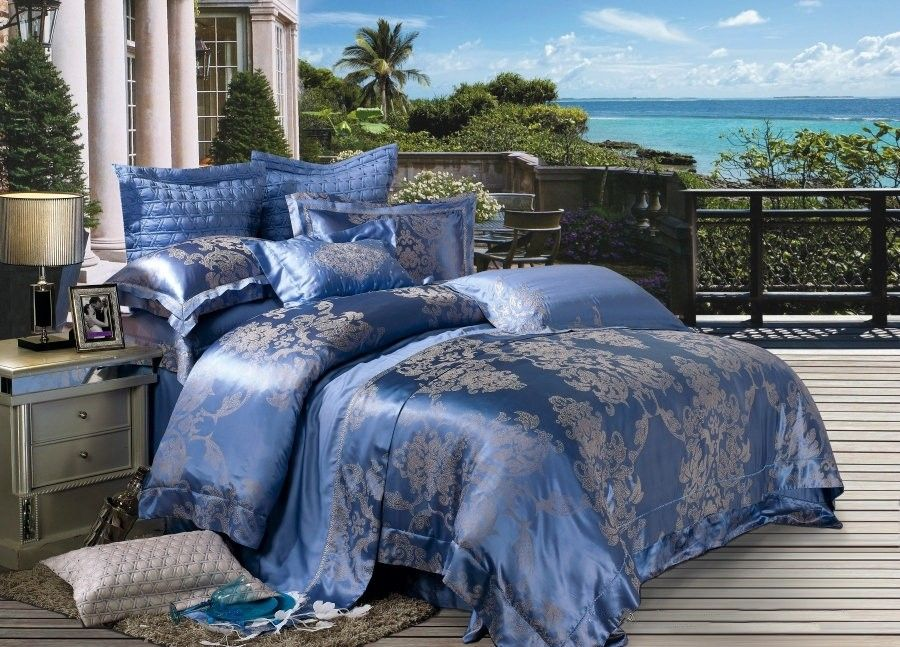 Best 4 Piece Jacquard Luxury Bedding Set Angel Wings Sets084 640 x 480