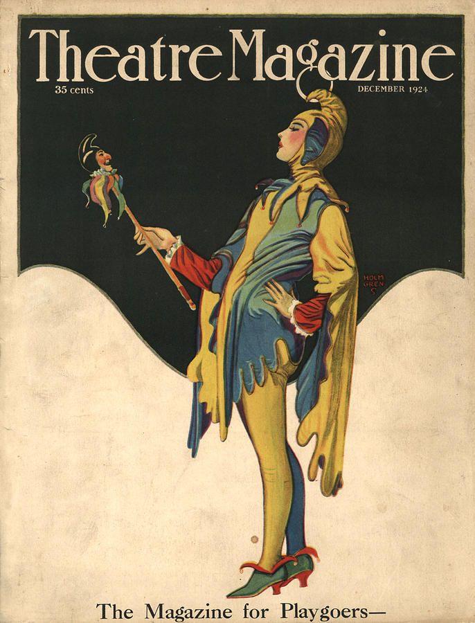 Theatre Magazine 1921 1920s Usa Clowns Drawing - Theatre Magazine ...