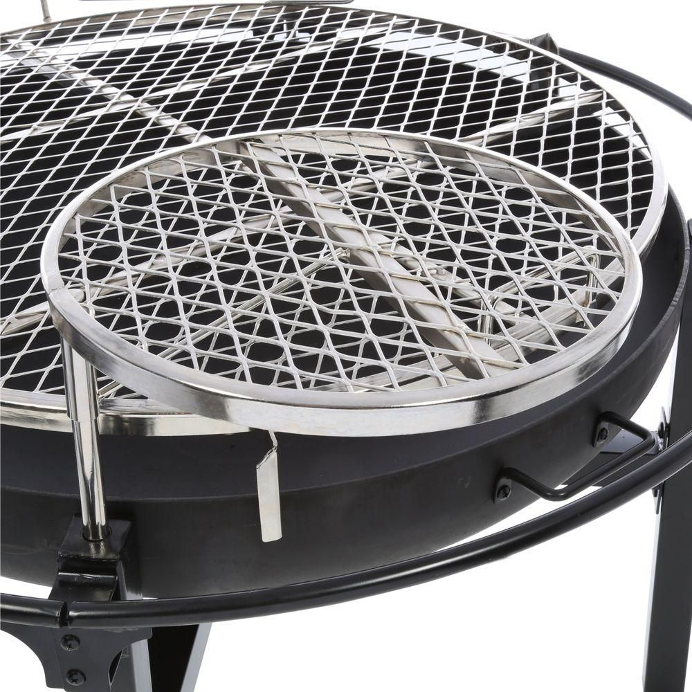 Rivergrille Cowboy 31 In Charcoal Grill And Fire Pit Gr1038