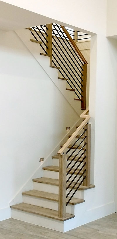 Best Horizontal Round Bar Hollow Modern Stair Railing Diy 640 x 480