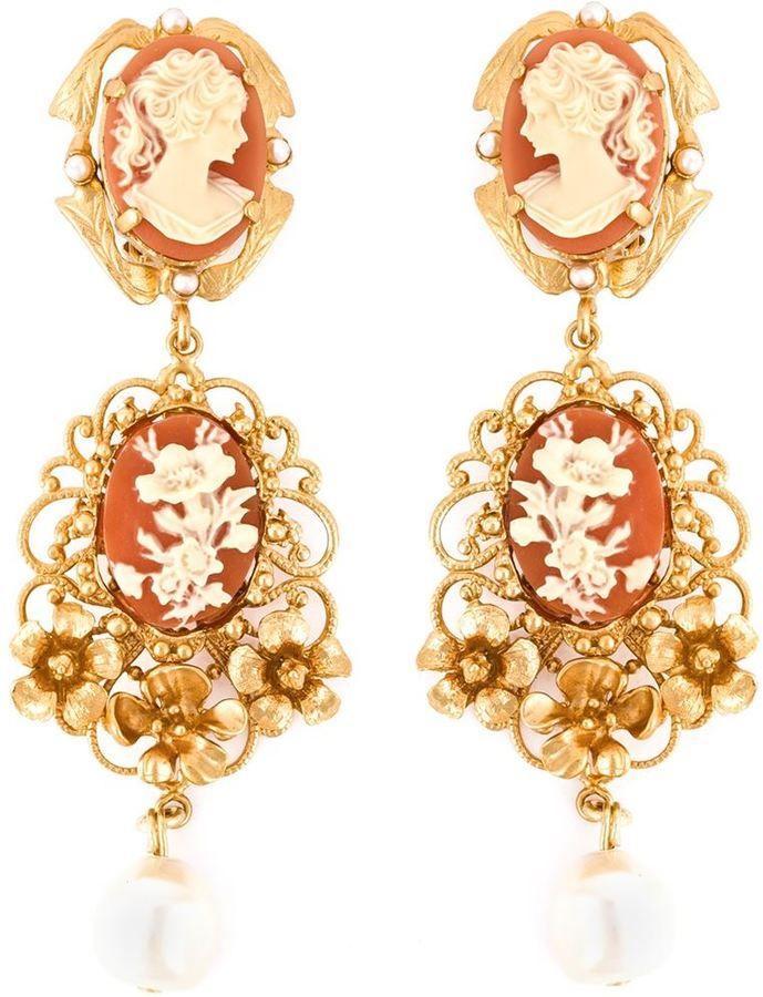85bc92633c56 Dolce   Gabbana cameo pearl earrings