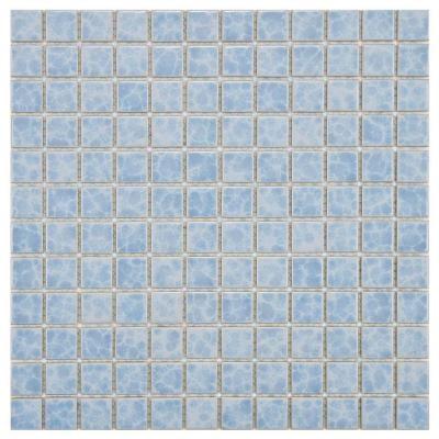 Merola Tile Watersplash Square Alboran 11 3 4 In X 11 3 4 In X 6 Mm Porcelain Mosaic Tile Fyfw1sal Mosaic Flooring Porcelain Mosaic Porcelain Mosaic Tile