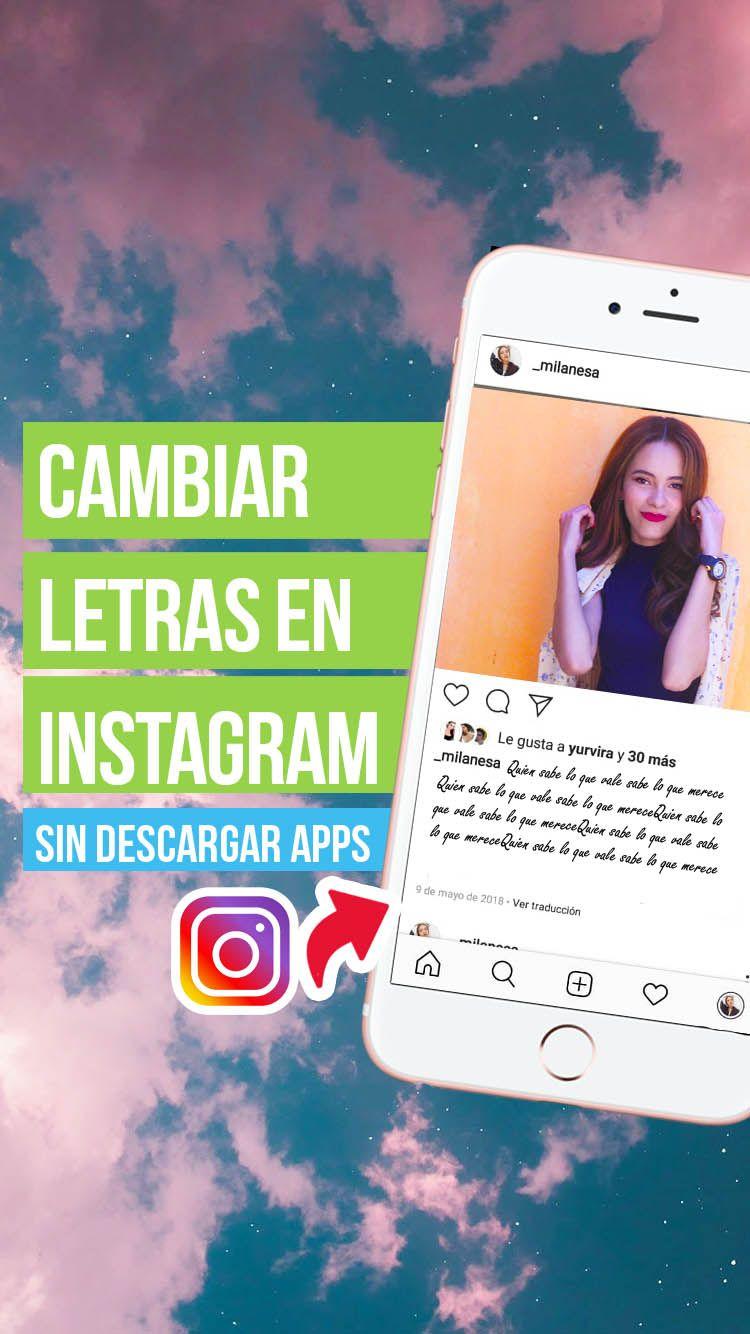 Como Cambiar Las Letras Fuentes En Instagram Tutorial Del Valle Blog Frases Para Biografía De Instagram Letra De Cambio Instagram