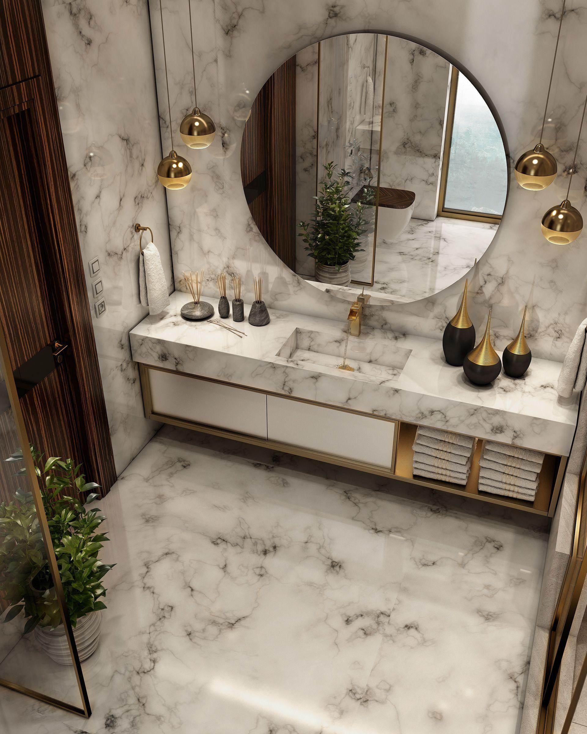 Nice Small Bathrooms: Luxurious Bathroom On Behance #luxurywashroomdesign